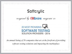 softcrylic cioreview 20 most promising software testing providers 2016