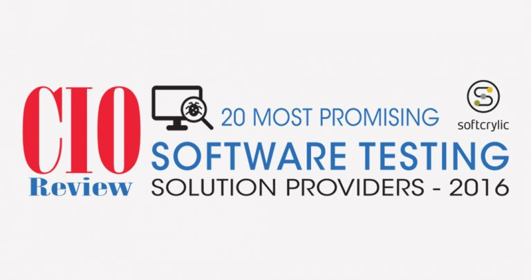 Softcrylic Nominated to CIOReview's 20 Most Promising Software Testing Solution Providers 2016