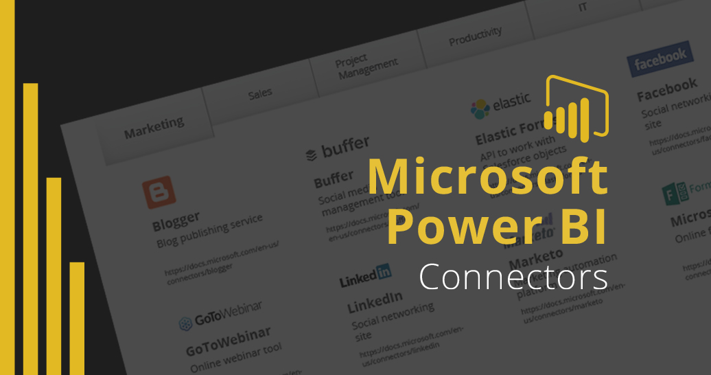 Microsoft Power BI Connectors page featured image